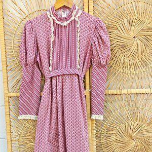 Vintage Handmade Prairie Maxi Dress